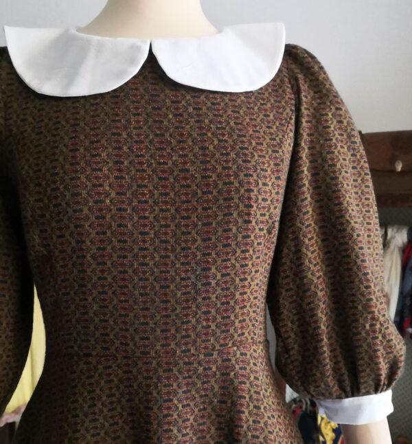 abito sartoriale 600x646 - Abitino in misto lana