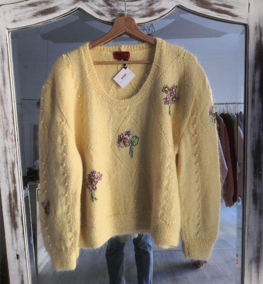 maglione giallo - VINTAGE