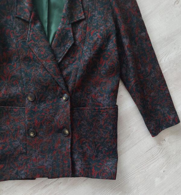 barocco bal 600x646 - Blazer vintage in pura lana fantasia botanica/barocca